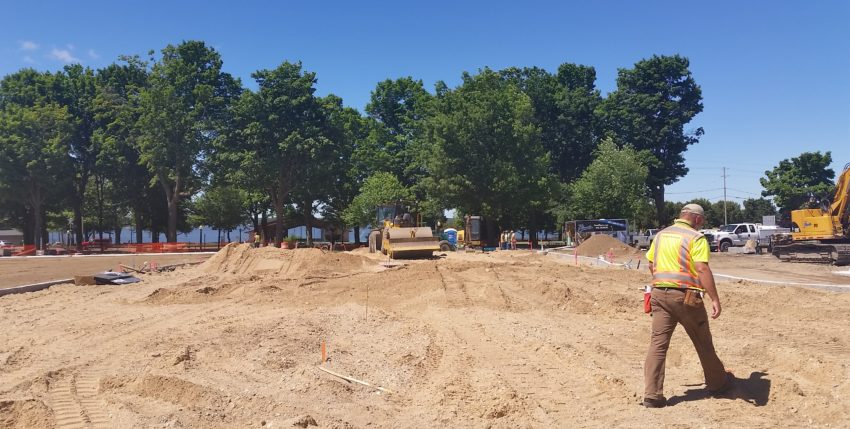 City manager: Parking lot behind Elk Avenue should be paved by July 4