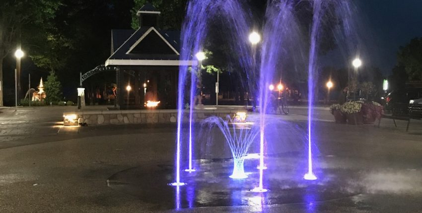 Commons Splash Pad Goes Purple In Honor Of Cadillac Relay For Life!
